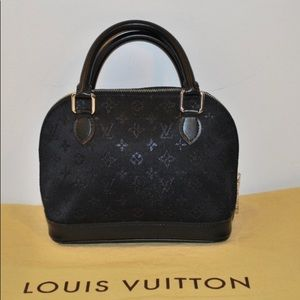 Louis Vuitton Min ALMA  BLACK SATIN MONOGRAM